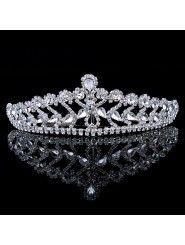 Alloy with Rhinestiones and Zircons Wedding Tiara/Headpiece