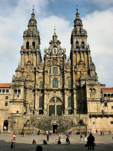 Catedral de Santiago de Compostela, Galicia, Spain (by Arnim Schulz).