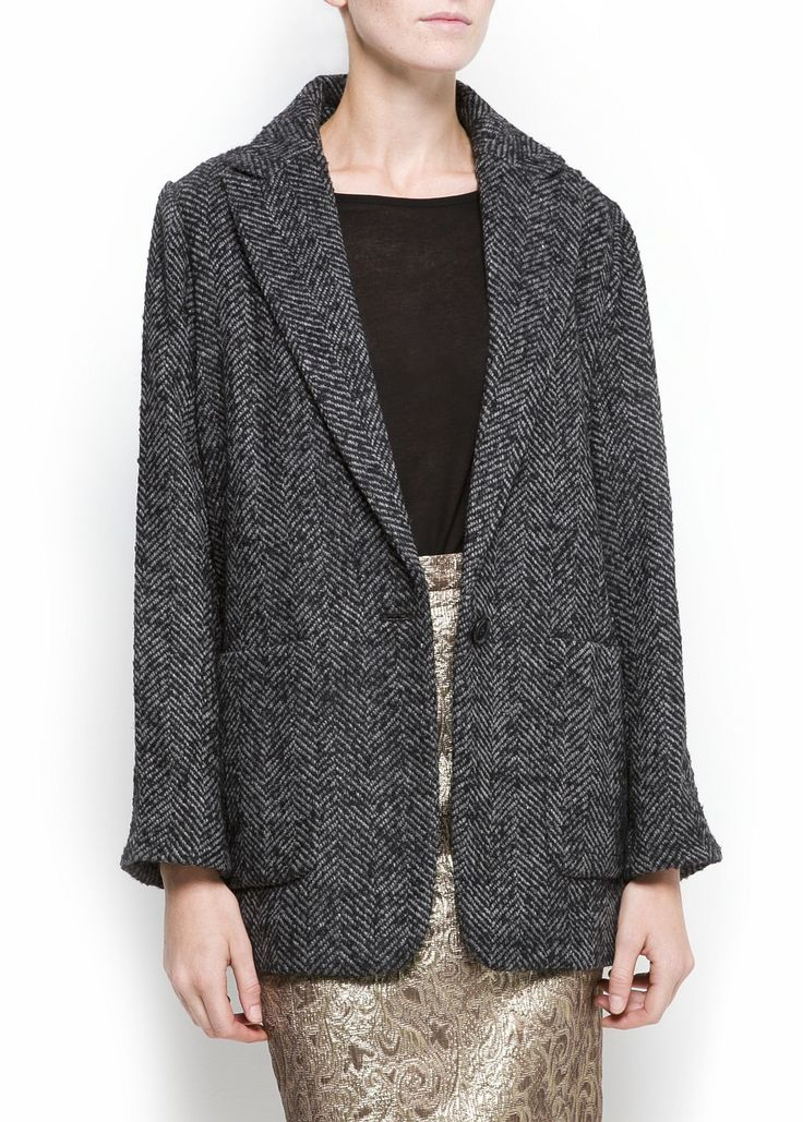mng Outlet - MUJER - Chaquetón espiga talla M y L 20e