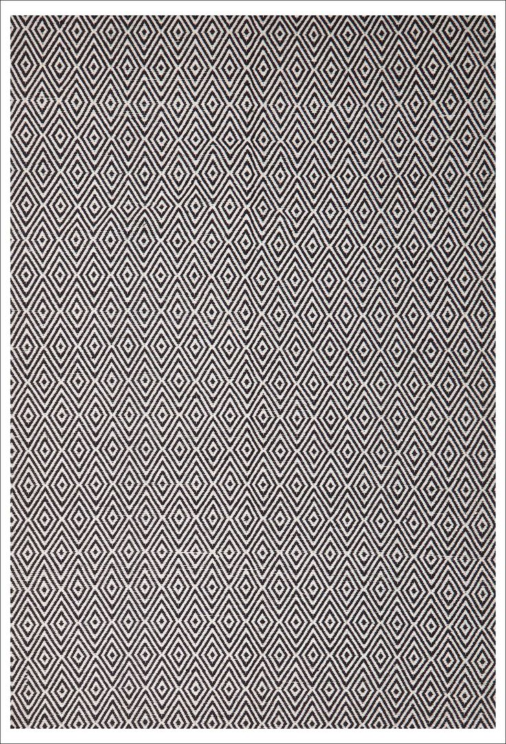 Hand loomed into a hard wearing, double sided rug, this rug features a simple but engaging diamond pattern. Buy now: https://www.rugsofbeauty.com.au/collections/flatweave/products/modern-flatweave-diamond-design-black-rug
