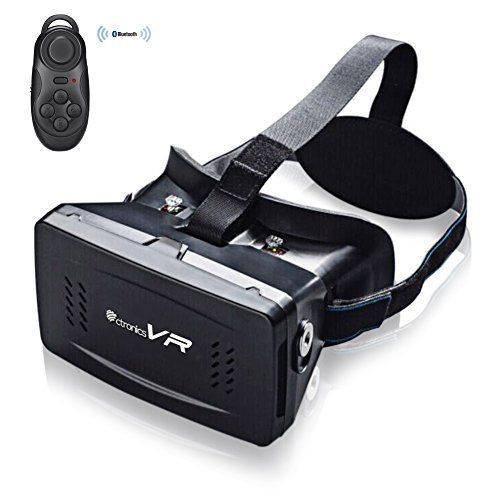 Ctronics 3D VR Glasses Google Cardboard VR Headset Virtual Reality Magnet Mobile Phone 3D Glasses for iPhone Samsung 35 to 6 Smartphone with Wireless Bluetooth Remote Controller as Free Gift -- Details can be found by clicking on the image.Note:It is affiliate link to Amazon.