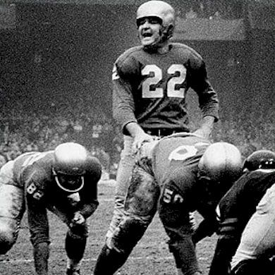 Charismatic quarterback Bobby Layne led the Detroit Lions to back-to-back NFL titles in the early 1950s.