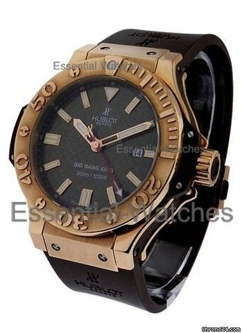 Hublot Rose Gold Big Bang King Chocolate - Rose Gold on Strap with Chocolate Dial