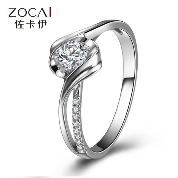 Zakaly quilates de ouro branco 18K anel de diamante efeito anéis de casamento anéis de diamante encontram soltas diamantes jóias personalizadas