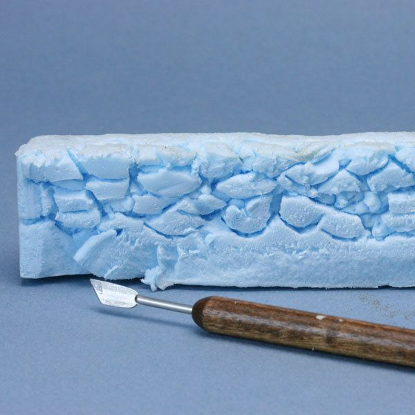 Make Scale Model Stone Walls from Recycled Styrofoam and Paint