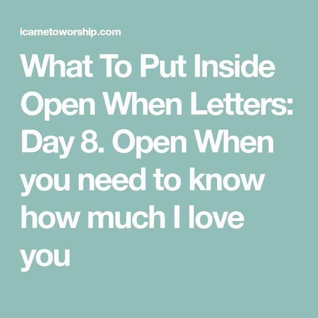 The  Best Inside Open When Letters Ideas On   Open