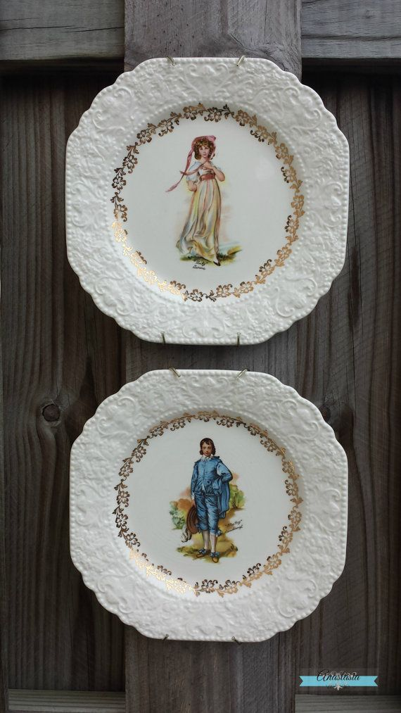 Gorgeous Pinky & Blue Boy Decorative China Plates - Lord ...