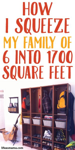 How I Squeeze My Family Of 6 Into 1700 Square FeetBest 25  Large family organization ideas on Pinterest   Big family  . Living Small With A Family. Home Design Ideas