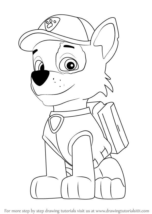 Learn How to Draw Rocky from PAW Patrol (PAW Patrol) Step