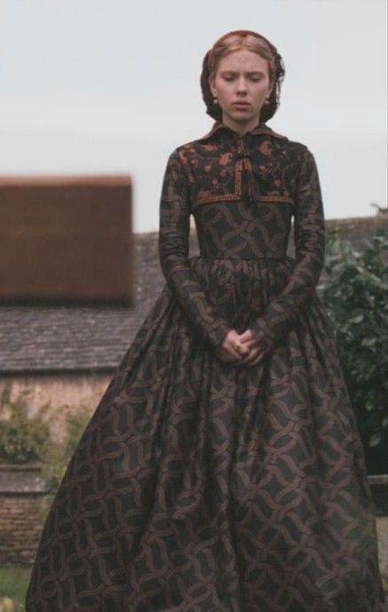 """A black dress with gold leaf pattern from Mary Boleyn's closet in The """"Other Boleyn Girl""""."""