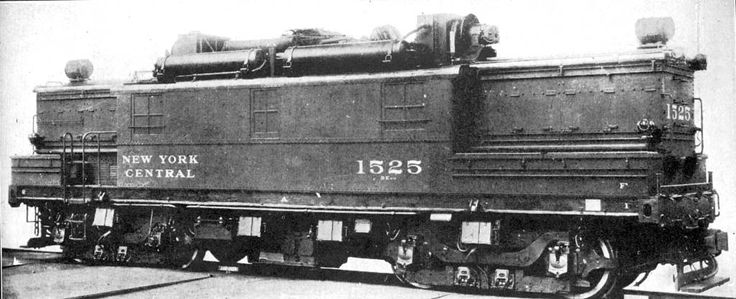 "N.Y.C. #1525   128 Ton   Boxcab     ""AGEIR"" ALCO / GE / Ingersoll Rand  oil / battery / electric switcher.   Built in 1928."