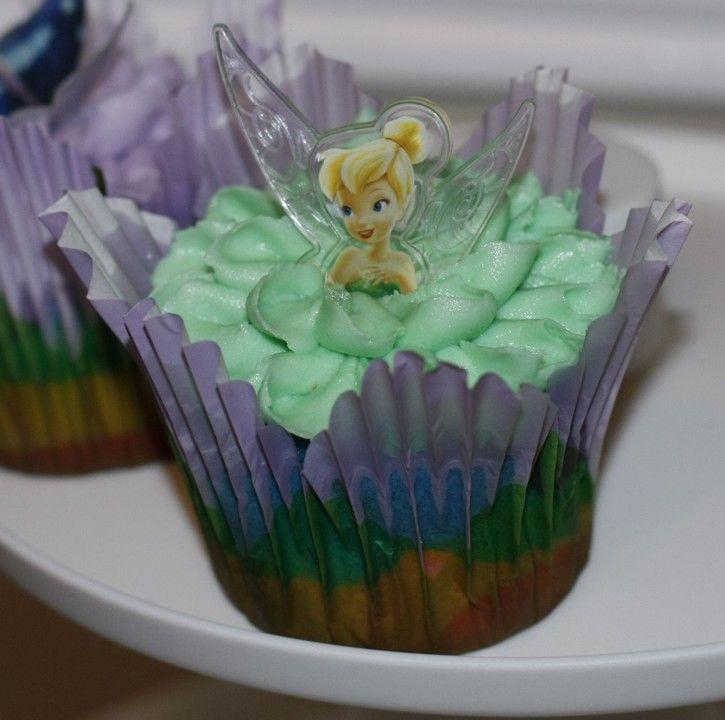 Tinkerbell rainbow cupcakes
