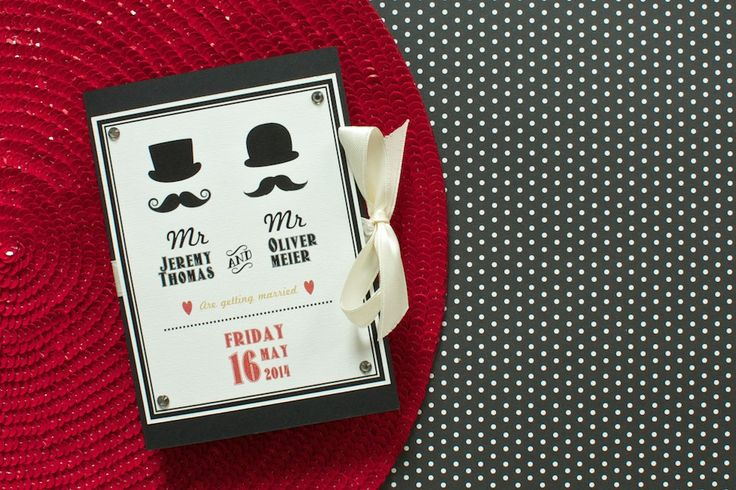 A lovely #wedding #invitation for all #retro #lovers. Find out more on lucyvanbarnes.de