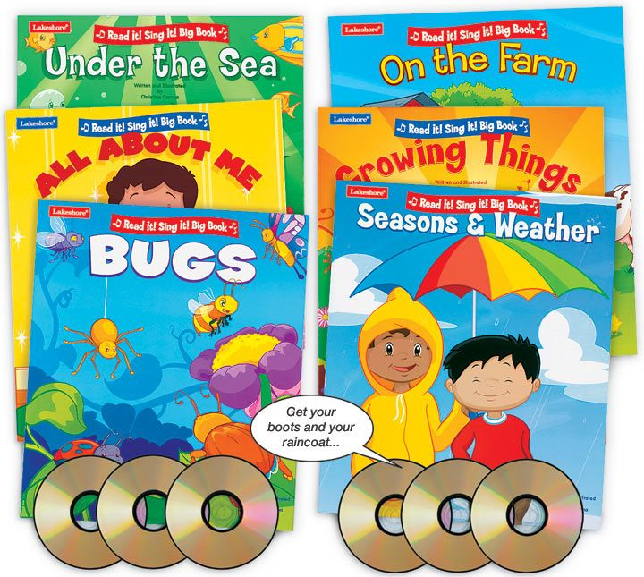 Classroom Design Lakeshore Learning : Read it sing big books complete set