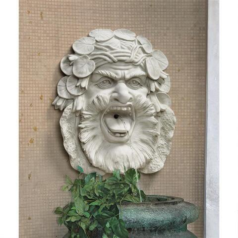 Hafod Mansion Greenman Fountain Wall Sculpture Toscano
