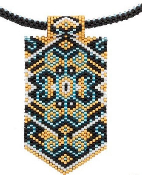 unique!!,sautoir Ethnique amérindien élégance perles Miyuki tissée a la main, neuf