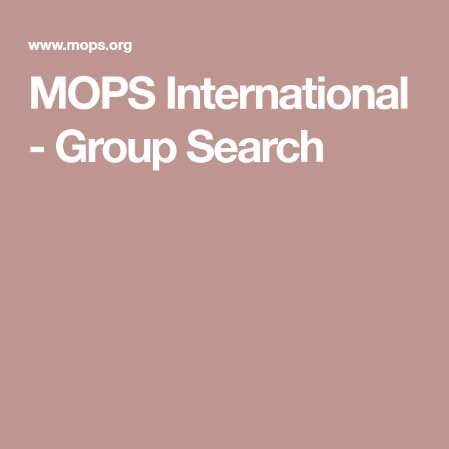 MOPS International - Group Search