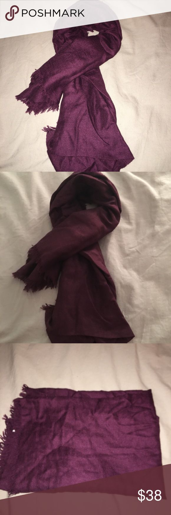 Nordstrom 100% cashmere scarf no wear to this but needs to be steamed/ironed. It is a shorter scarf. It is a cross between maroon and purple Accessories Scarves & Wraps