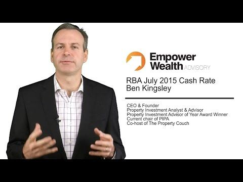 Here is Ben Kingsley's commentary on the July 2015 RBA Cash Rate announcement. We have also included two How To videos on Decision Fatigue in Property Investment and the Thought Process when Buying a Home, articles on SMSF Lending, Investment Tips for the rest of 2015 and registration to our webinars. Enjoy!   http://empowerwealth.com.au/july-2015-rba-newsletter/