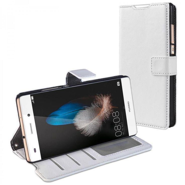 Schutz Tasche für Huawei P8 Lite Hülle Handy Zubehör Bookstyle Case Wallet weiß in Handys & Kommunikation, Handy- & PDA-Zubehör, Taschen & Schutzhüllen   eBay