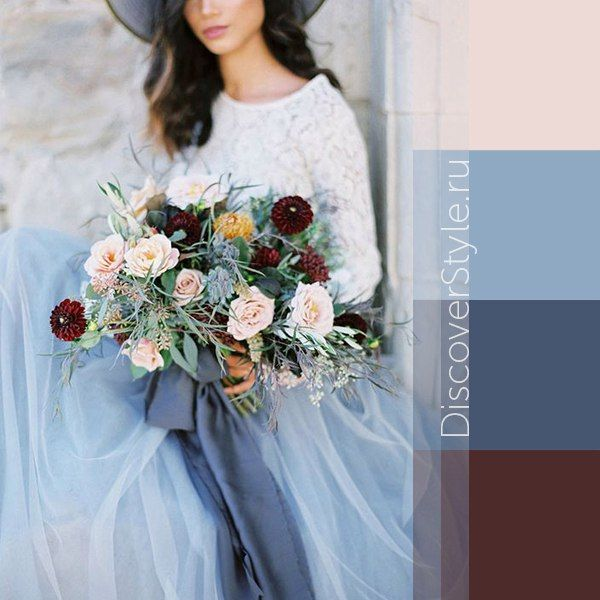 Dark / light blue + dark coffee brown #colour #combinations
