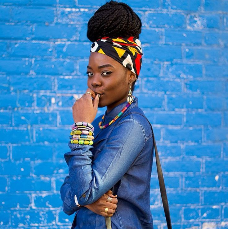Headwrap & Box Braids 💜🦄 Follow me on  IG: TheHeartShow          SC: Beaut…   – Classic Box Braid Hairstyles