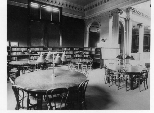 Springfield, IL. Old Lincoln Library Reading Room. Courtesy Of Springfield  Rewind And The