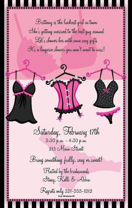 bachelorette invitecute wording for lingerie theme party – Funny Bachelorette Party Invitations