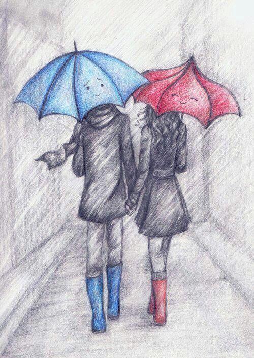 o guarda chuva azul