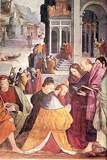 Chiesa di San Cristoforo  Gaudenzio Ferrari,  Battesimo dei principi di Marsiglia