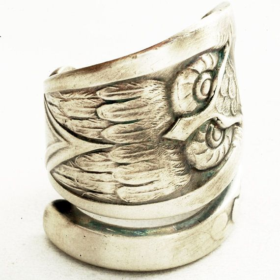 owl spoon ring jewelry watches schmuck uhren. Black Bedroom Furniture Sets. Home Design Ideas