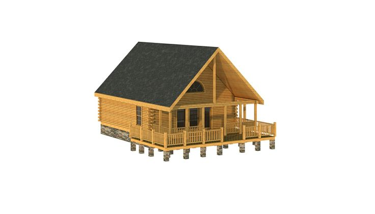Boone log home cabin plans southland log homes for Log cabin portici e ponti