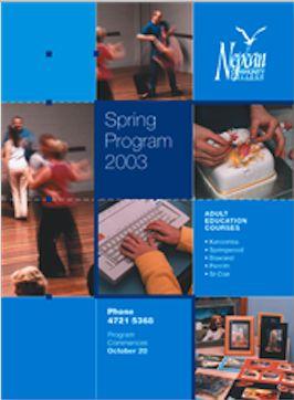 Spring Brochure 2003