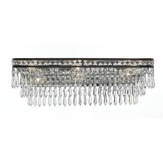 Crystorama 5265 Mercer 6 Light Hand Cut Crystal Bathroom Light