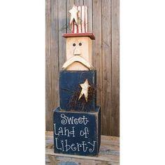 KP Creek Gifts - Thin Uncle Sam Stacker