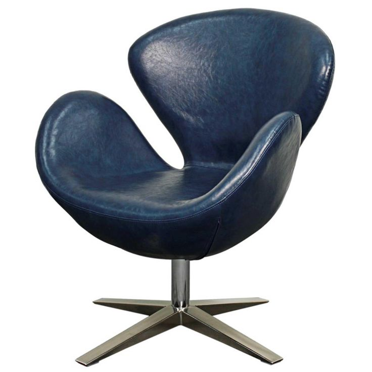 Best Beckett Pu Swivel Chair Chrome Legs Distressed Blue 400 x 300