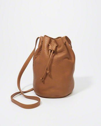 Drawstring Bucket Bag from Abercrombie & Fitch $140,00