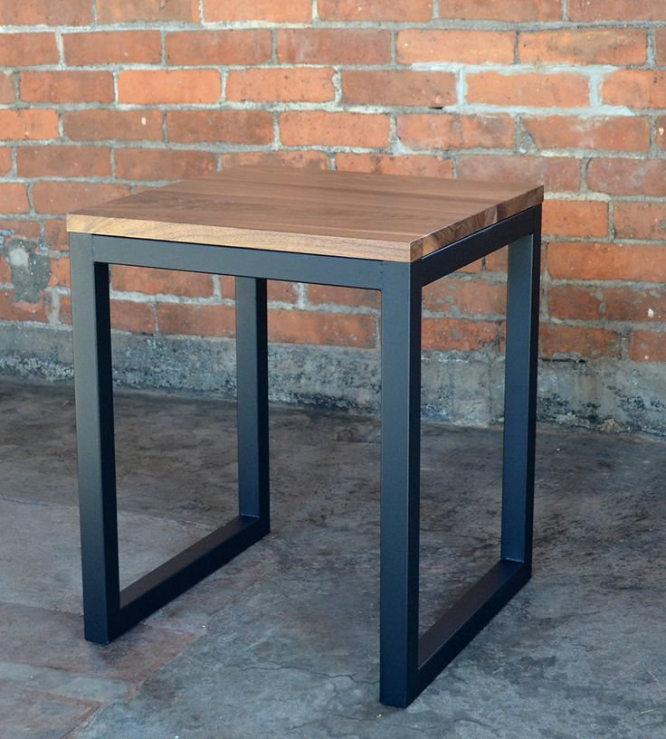 Edge Wood Industrial Side Table | Top off your fab furniture collection with this straight edge ... | Benches