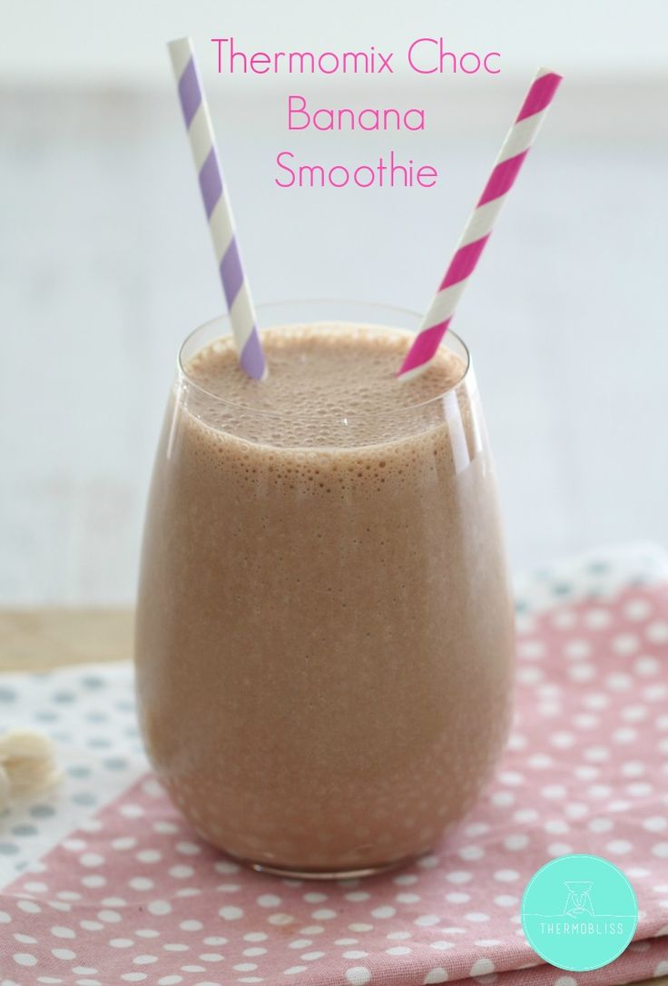 Thermomix Healthy Chocolate Banana Smoothie
