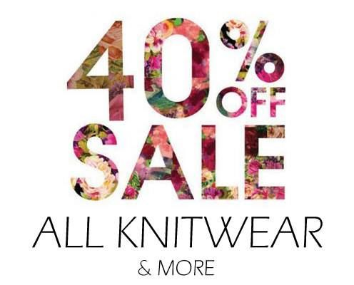 STARTS TOMORROW! 40% off all knitwear. Hurry in & pick up a bargain 🌻🌸 #hilltopsregion #youngnsw #cbrregion