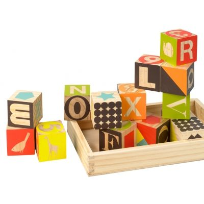Dwell Puzzle Blocks - available at Darling Clementine: Studios, Puzzles Blocks, Wood Blocks, Kids, Baby, Dwellstudio Puzzles, Wooden Blocks, Dwellstudio Wooden, Wood Puzzles