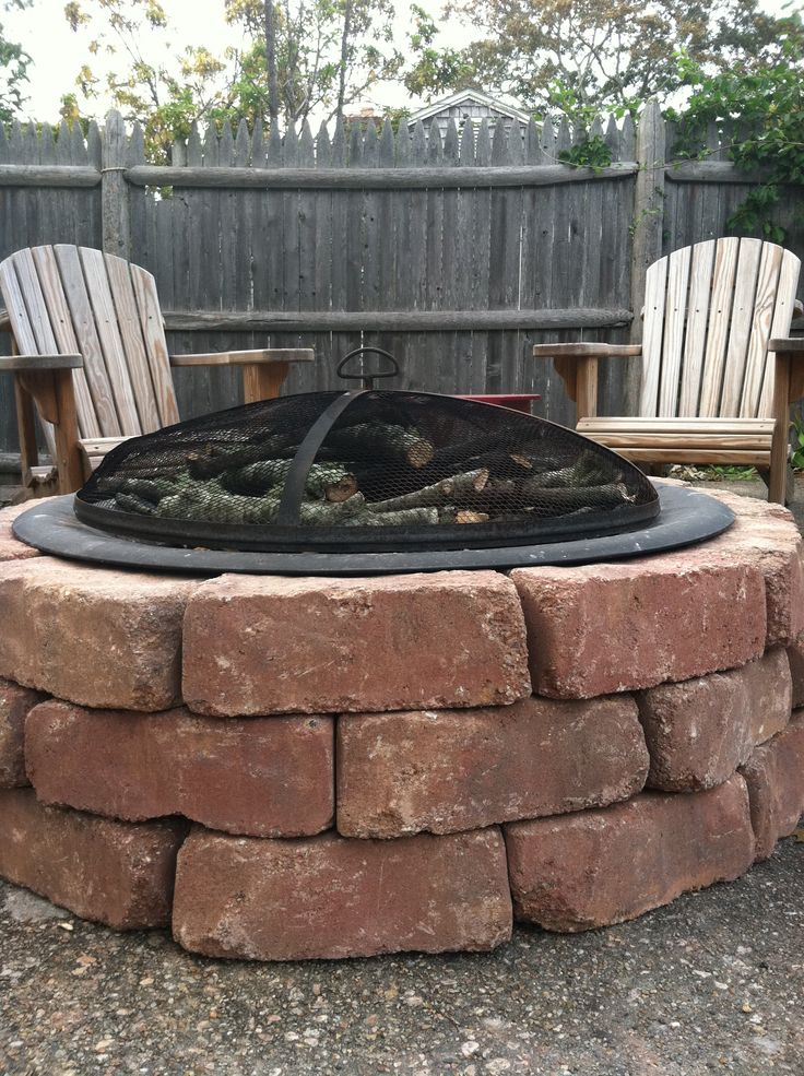 1000 ideas about easy fire pit on pinterest build a for Make a fire pit cheap