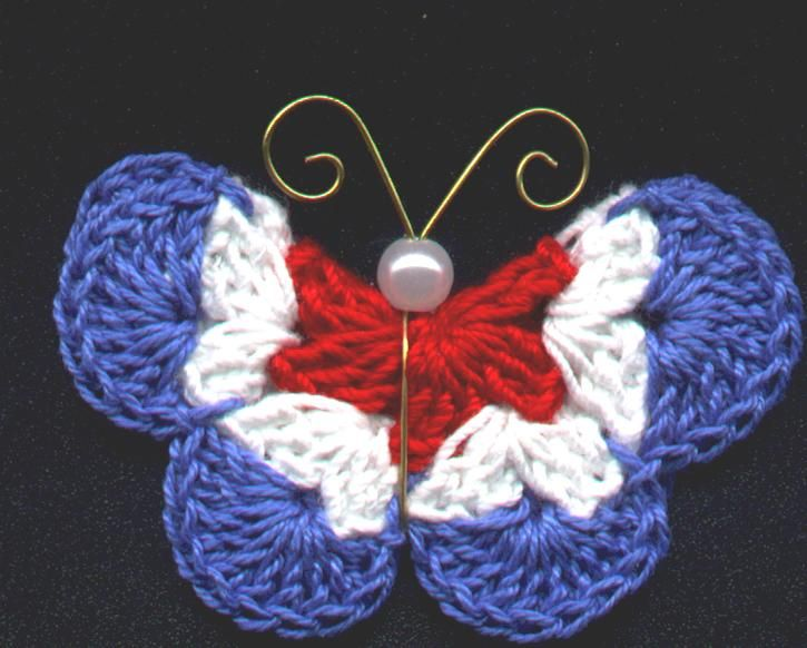Crochet Butterfly Pattern : ... Crochet Butterflies Pinterest Butterflies, Butterfly Pattern and