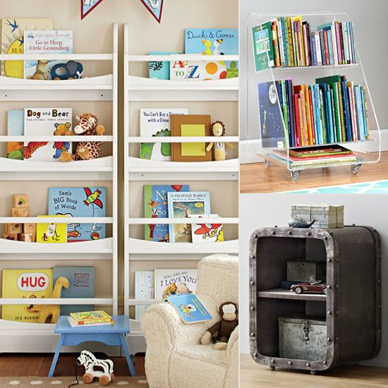 74 best toddler bedroom images on pinterest picture Book storage ideas for small spaces