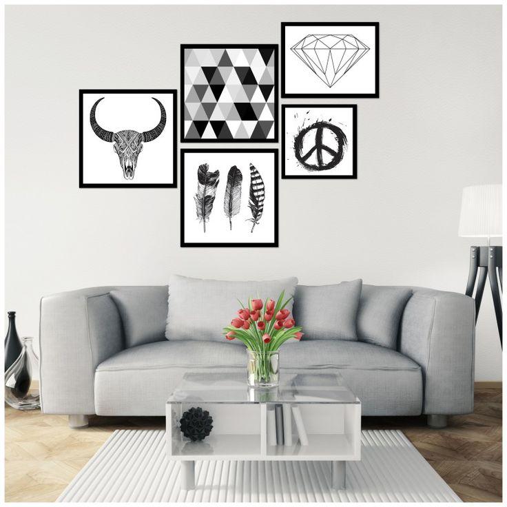 Jeden obraz w ramie podkreśli wnętrze, ale dopiero zestaw dekoracji uczyni pomieszczenie intrygującym. Odmień wystrój domu i biura z galeriami nowoczesnych obrazów w wersji boho scandichic. Zainspiruj się !