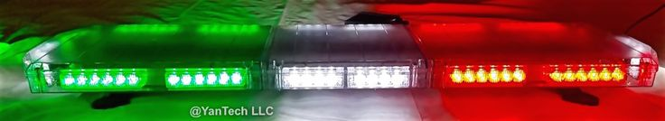 "48"" Emergency 82 LEDs Light Bar Flashing Warning Tow/Plow Truck Wreck Red/Green/White"