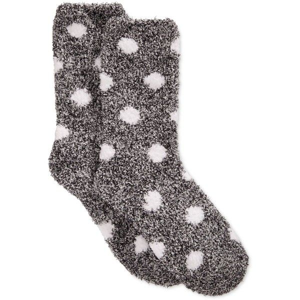 Charter Club Women's Butter Super Soft Marled Dot Socks ($6.99) ❤ liked on Polyvore featuring intimates, hosiery, socks, accessories, socks/tights, dot socks, polka dot hosiery, charter club, black and white socks と polka dot socks