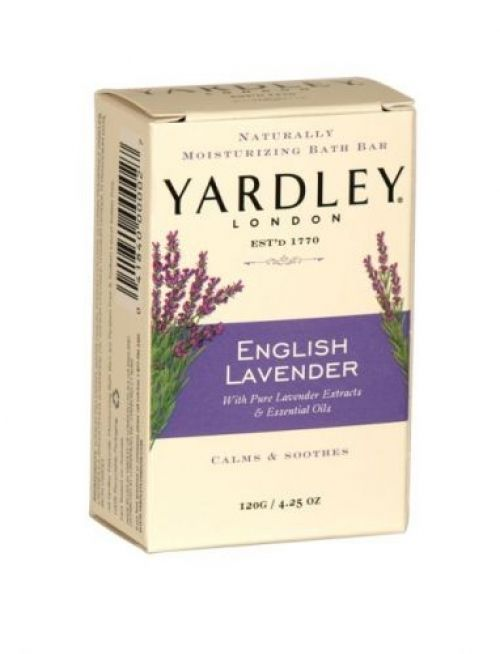 Yardley naturally moisturising bath soap bar 120g english lavender