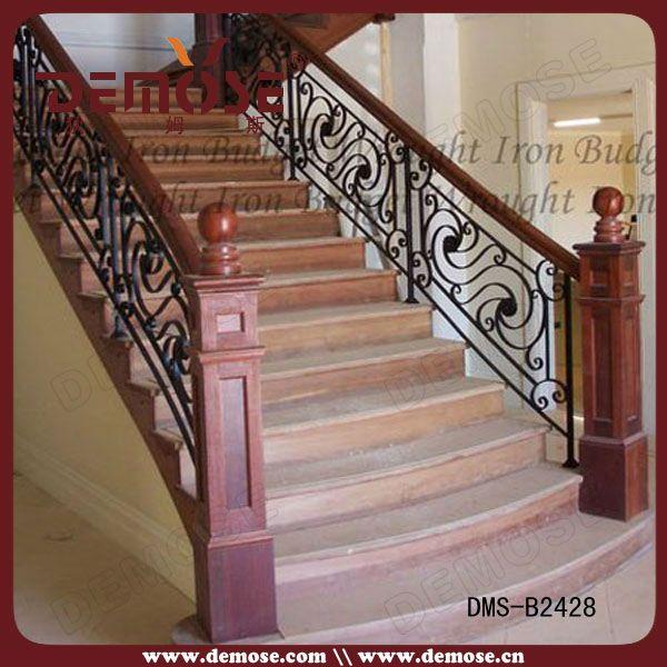Modelos de barandas para escaleras de hierro forjado - Barandas de escaleras de madera ...