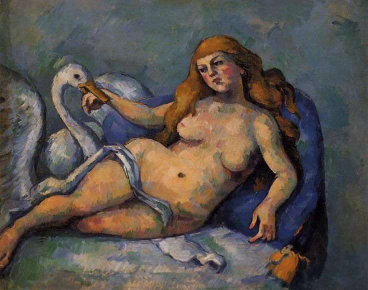 Leda and the Swan Artist: Paul Cezanne. 1882 Style: Post-Impressionism Genre: mythological painting Oil on Canvas Dimensions: 59.7 x 74.9 cm Gallery: The Barnes Foundation, Merion, Pennsylvania, USA